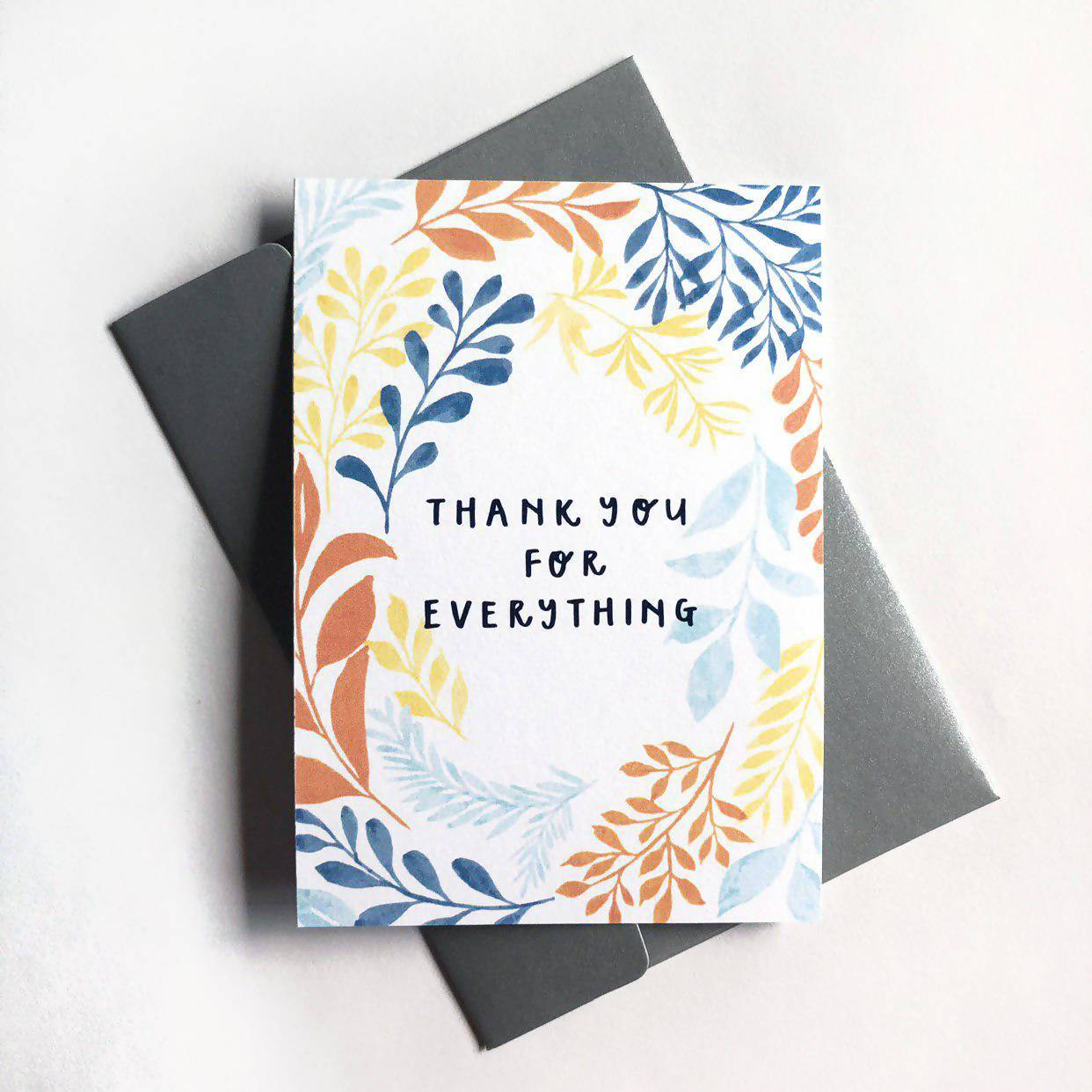 Thank You For Everything | Greeting Card - Thank You Cards - Papercranes Design - Naiise