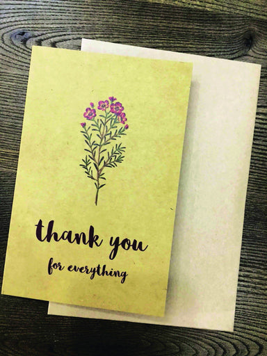 Thank You For Everything Greeting Card Thank You Cards Papermix