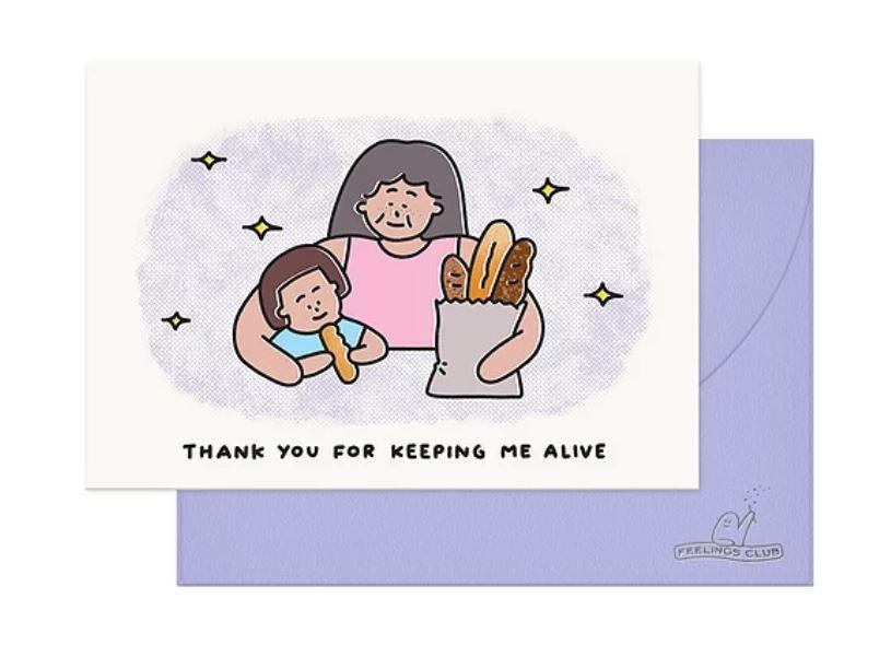 Thank You For Keeping Me Alive Mom Card (JUN19C3) - Cards for Mothers - Feelings Club - Naiise