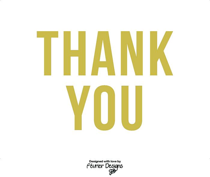 Thank You Gold Card Thank You Cards Fevrier Designs