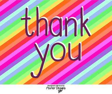 Thank You Rainbow Card - Generic Greeting Cards - Fevrier Designs - Naiise
