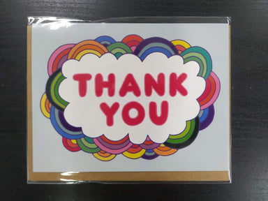 Thank You Rainbow Cloud Card Thank You Cards Fevrier Designs