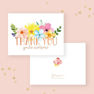 Thank you (you're awesome) Card Thank You Cards YOUNIVERSE DESIGN