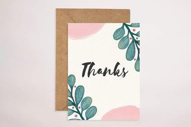 Thank You(Cream Floral) Thank You Cards YOUNIVERSE DESIGN