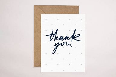 Thank You(Grey Polkadot) Card Thank You Cards YOUNIVERSE DESIGN