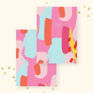 Thank You(Pink Abstract) Card - Thank You Cards - YOUNIVERSE DESIGN - Naiise