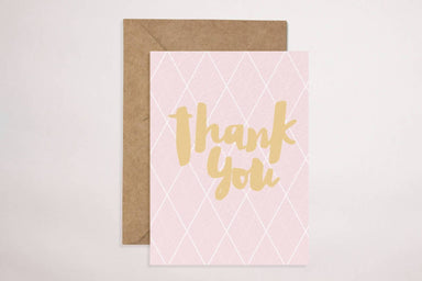 Thank You(Pink) Card - Generic Greeting Cards - YOUNIVERSE DESIGN - Naiise