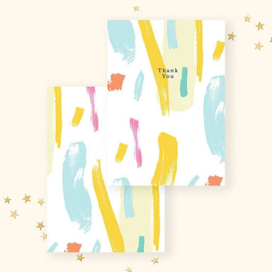 Thank You(White Abstract) Card - Thank You Cards - YOUNIVERSE DESIGN - Naiise
