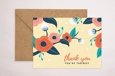 Thank You(You're The Best) Thank You Cards YOUNIVERSE DESIGN