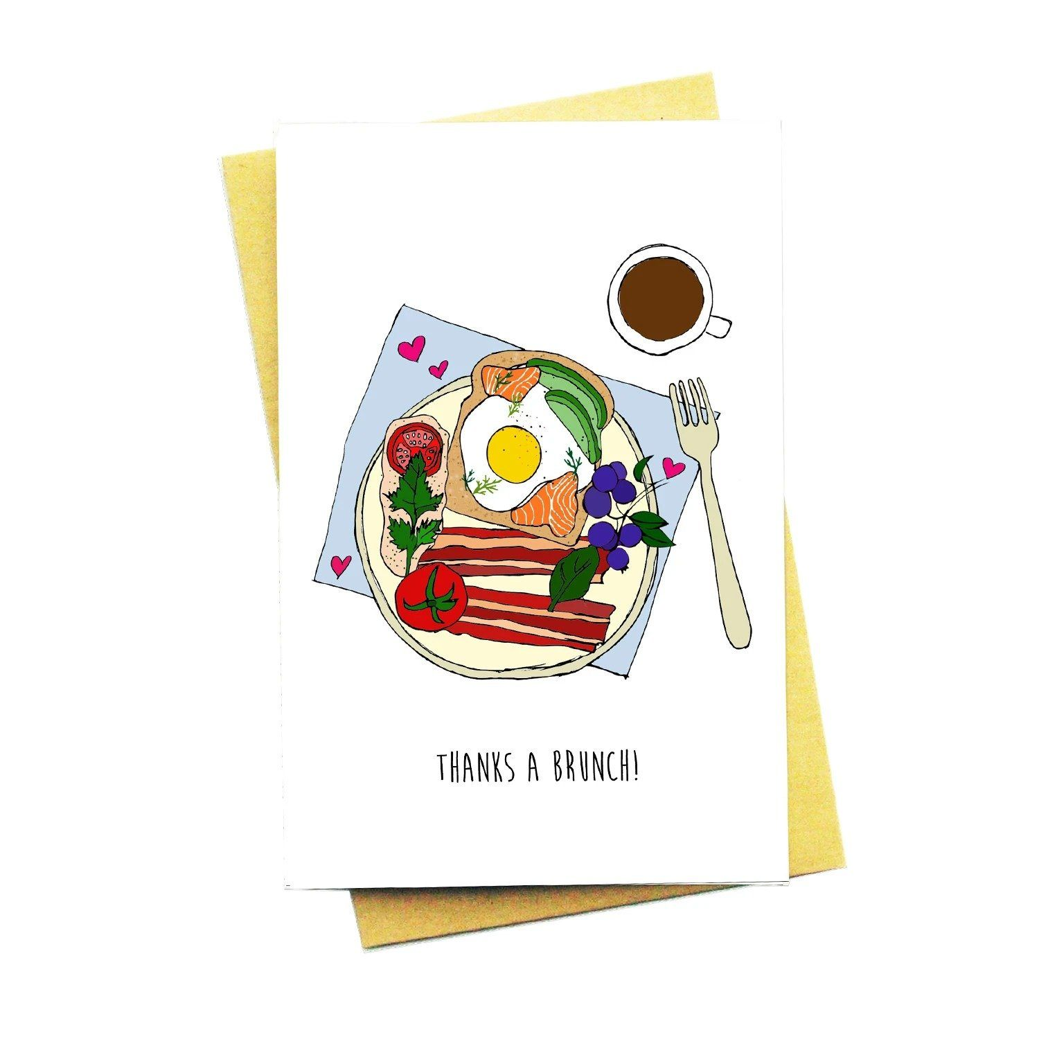 Thanks A Brunch! Greeting Card - Thank You Cards - Nocturnal Paper - Naiise