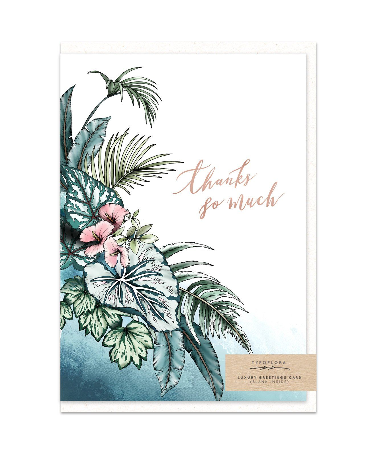 Thanks So Much - Thank You Cards - Typoflora - Naiise