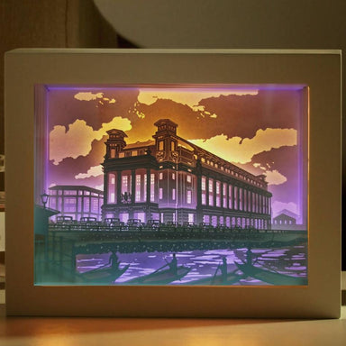 The Fullerton 1930 - Lighted Paper Frame DIY Crafts Blue Stone Craft The Fullerton 1930