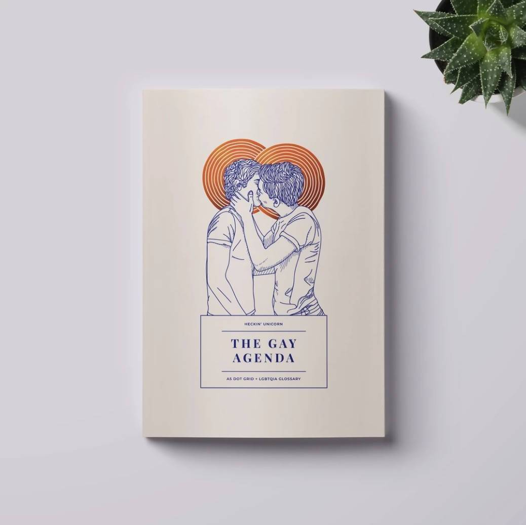 The Gay Agenda: Men In Love LGBTQ+ Notebook - Notebooks - Heckin' Unicorn - Naiise