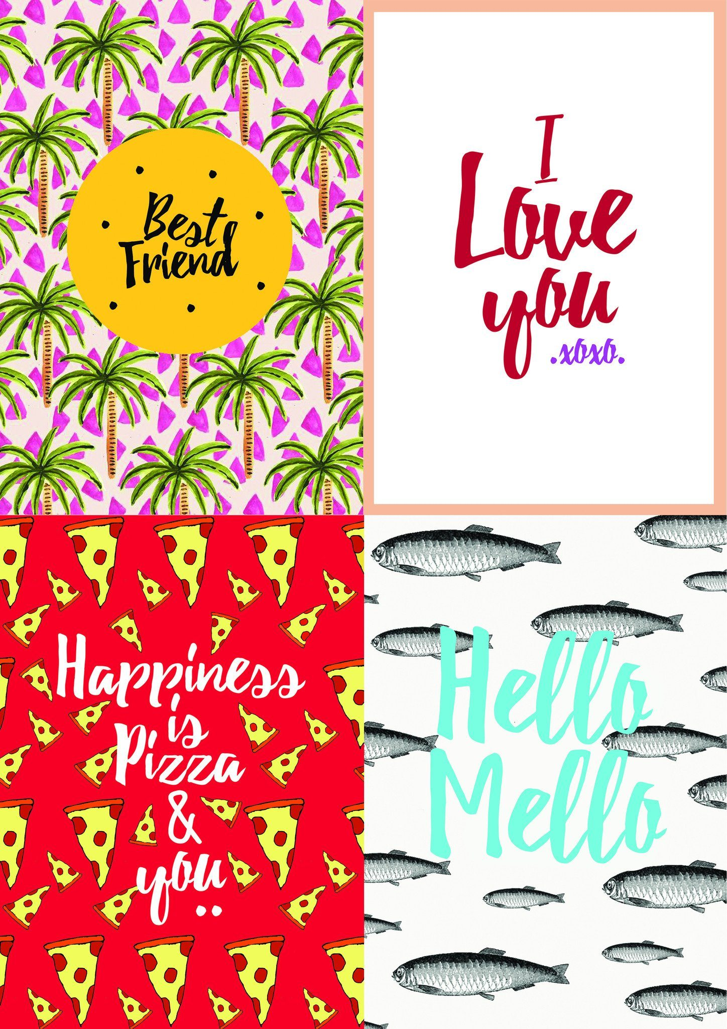 The Happiness Within Postcard Set - Postcards - The Paper Happiness - Naiise