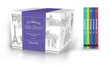 The HUNT UK & Europe Cities Boxed Set - Travel Guides - Gatehouse Publishing - Naiise