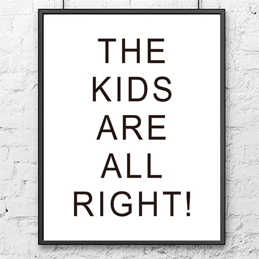 The Kids Are All Right Canvas - Canvas Prints - Charlie and Skye - Naiise