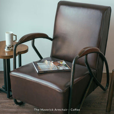 The Maverick Armchair - Oxblood (Pre-Order) - Naiise