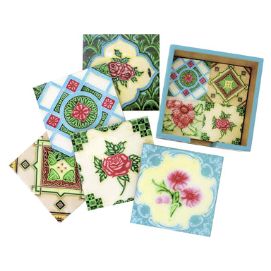The Peranakan Ohng Collection (Set of 6 Coasters) Local Coasters Photo Phactory
