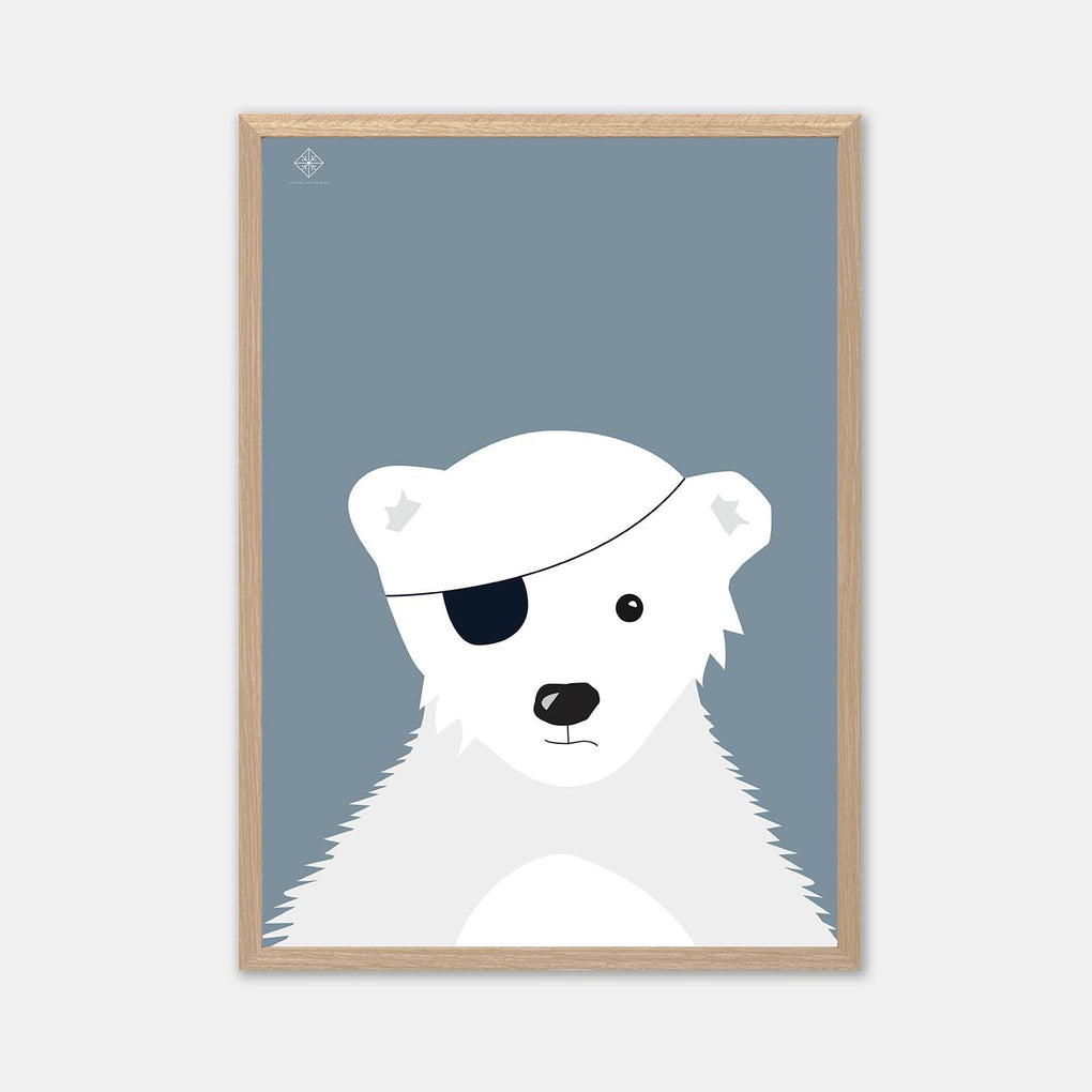 The Polar Pirate Poster Posters Sne Design Blue