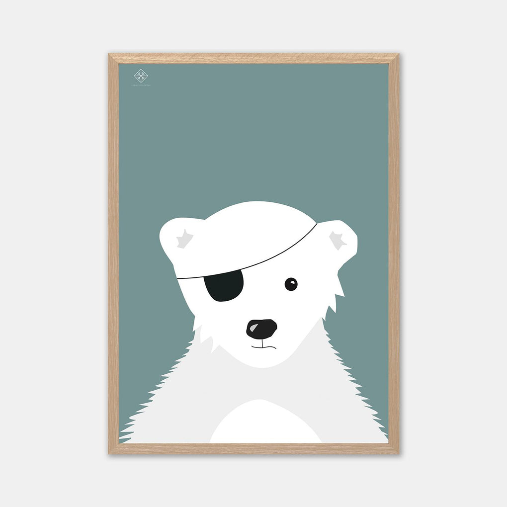 The Polar Pirate Poster Posters Sne Design Green