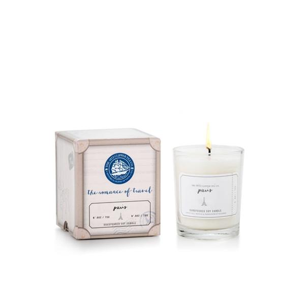 The Romance of Travel Candles: Midnight in Paris Scented Candles The 1872 Clipper Tea Co.