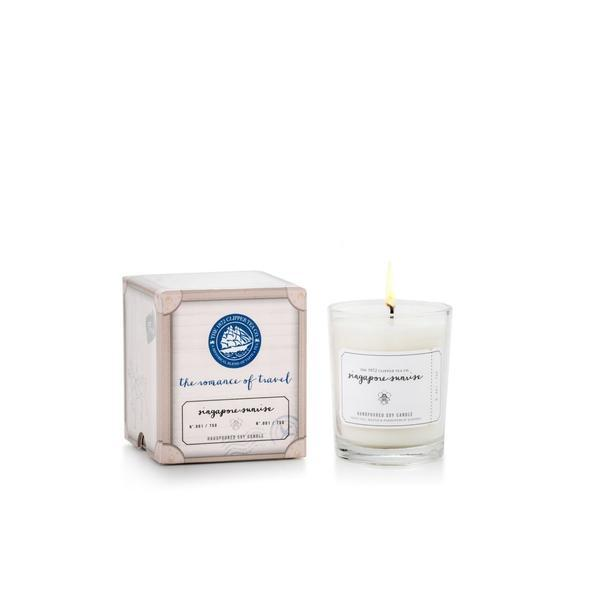 The Romance of Travel Candles: Singapore Sunrise Scented Candles The 1872 Clipper Tea Co.