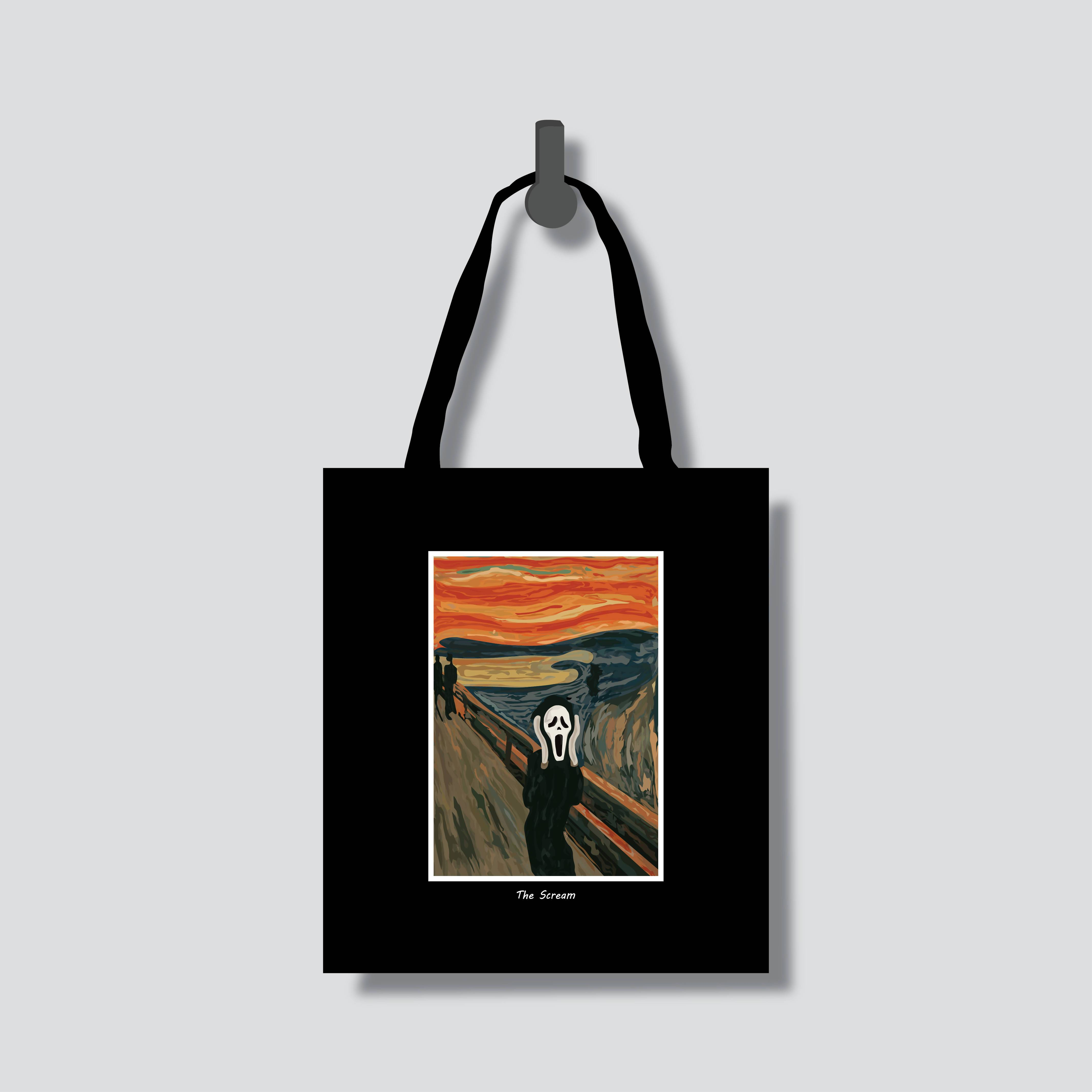 The Scream Totebag - Tote Bags - Chaps V8.2 - Naiise