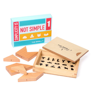 The Small T Tangram Brain Teaser Puzzle I Stem toys Wooden blocks Montessori puzzle | IQ Puzzle for kids ages 8-12 - Level 1 Kids Toys The Small T