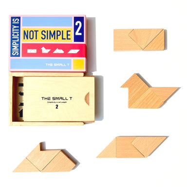 The Small T Tangram Brain Teaser Puzzle I Stem toys Wooden blocks Montessori puzzle | IQ Puzzle for kids ages 8-12 - Level 2 - Kids Toys - The Small T - Naiise