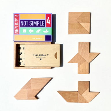 The Small T Tangram Brain Teaser Puzzle I Stem toys Wooden blocks Montessori puzzle | IQ Puzzle for kids ages 8-12 - Level 4 - Kids Toys - The Small T - Naiise