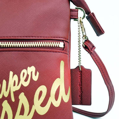 tHe Super Blessed Dark Red Sling Clutch Bag Clutches The Super Blessed