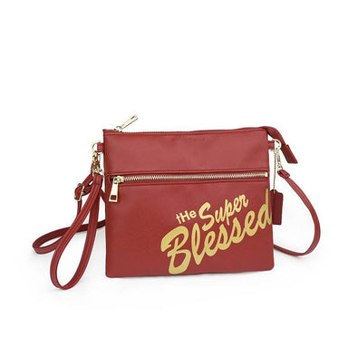 tHe Super Blessed Dark Red Sling Clutch Bag Clutches The Super Blessed tHe Super Blessed Dark Red Sling Clutch Bag
