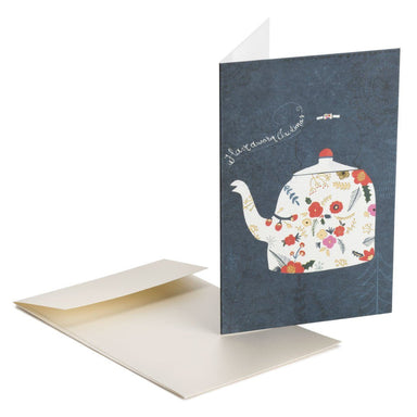The Teapot Greeting Card Christmas Cards MULTIFOLIA ATELIER di Rita Girola