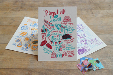 Things I Did In Singapore Postcard Local Postcards The Fingersmith Letterpress