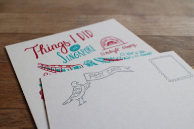 Things I Saw In Singapore Postcard - Local Postcards - The Fingersmith Letterpress - Naiise