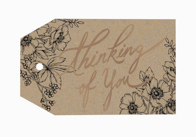 Thinking Of You Gift Tag - Gift Tags - Typoflora - Naiise