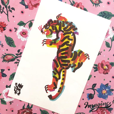 Tiger Colour Bash Temporary Tattoo - Temporary Tattoos - Imagine Playbook - Naiise