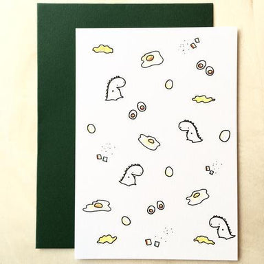 Tinee Dino Pattern Card - Eggs Generic Greeting Cards Tinee Dino