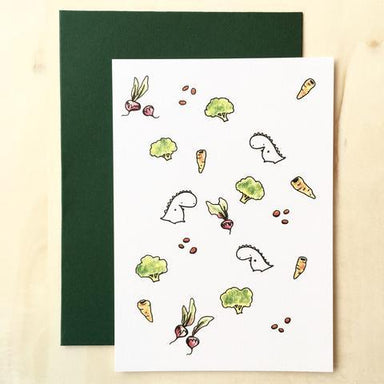 Tinee Dino Pattern Card - Radishes Generic Greeting Cards Tinee Dino