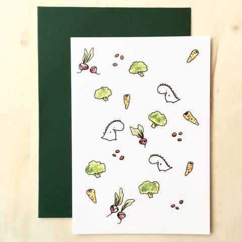 Tinee Dino Pattern Card - Radishes - Generic Greeting Cards - Tinee Dino - Naiise