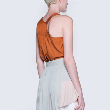 Tivri Asymmetric Back Top in Ginger Women's Tops Salient Label