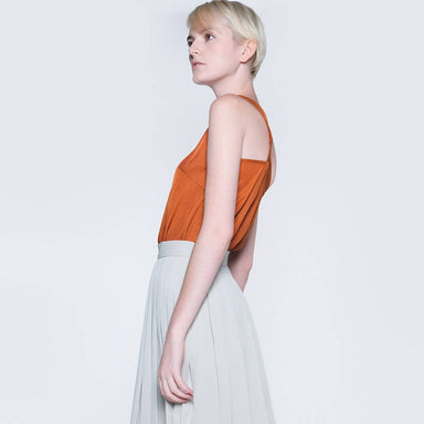 Tivri Asymmetric Back Top in Ginger - Women's Tops - Salient Label - Naiise
