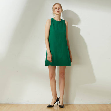 Odette Cut-out Back Shift Dress in Botanical - Dresses - Salient Label - Naiise