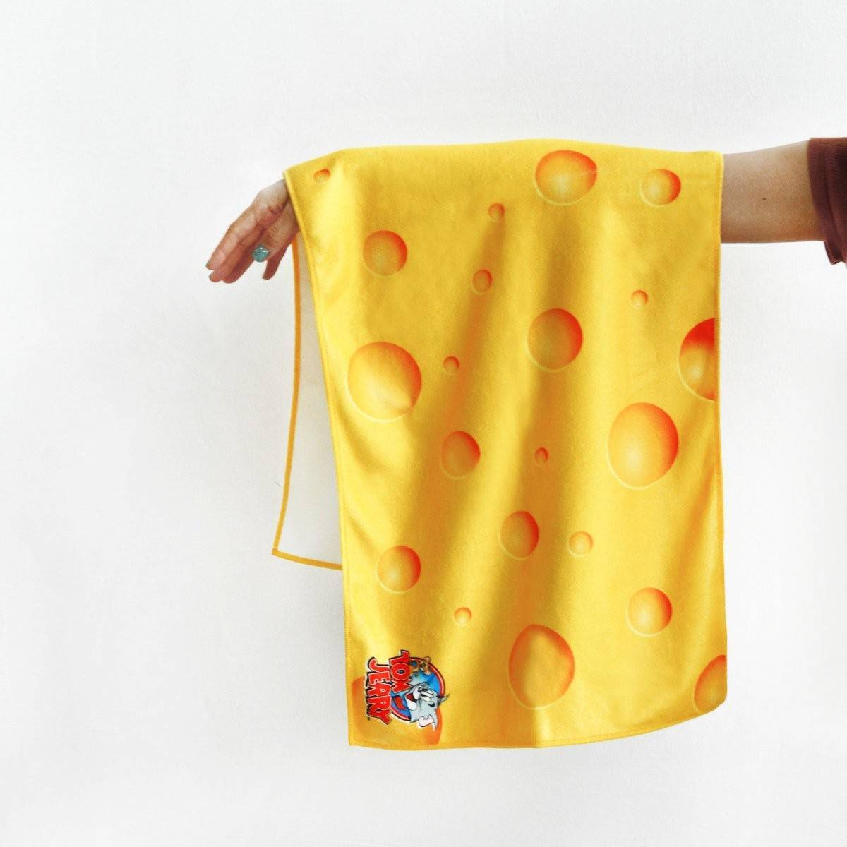 Tom And Jerry Cheese Face Towel - Bath Towels - Ok Can Lah - Naiise