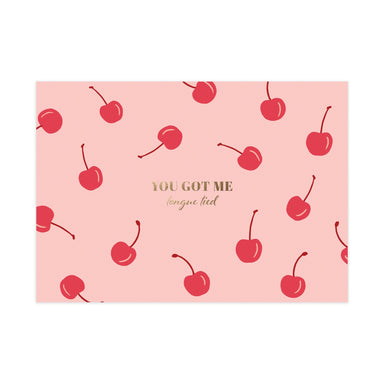 Tongue Tied Card (Gloss Gold Foil) - Love Cards - Pine on Paper - Naiise