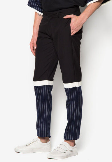 Top Black Bottom Striped Pant - Men's Pants - CMDI - Naiise