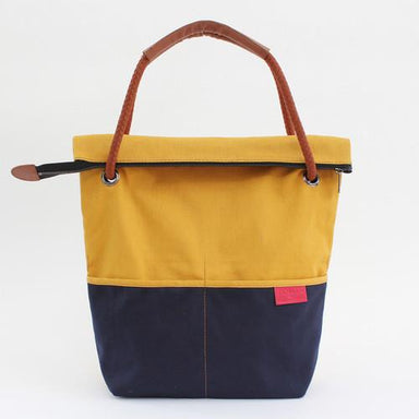 TOUTE Messenger Bag Tote Bags TOUTE by maisonette 1977 Mustard/Navy