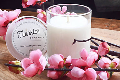 Cherry Blossom Soy Candle Scented Candles Twinkles by Gladys