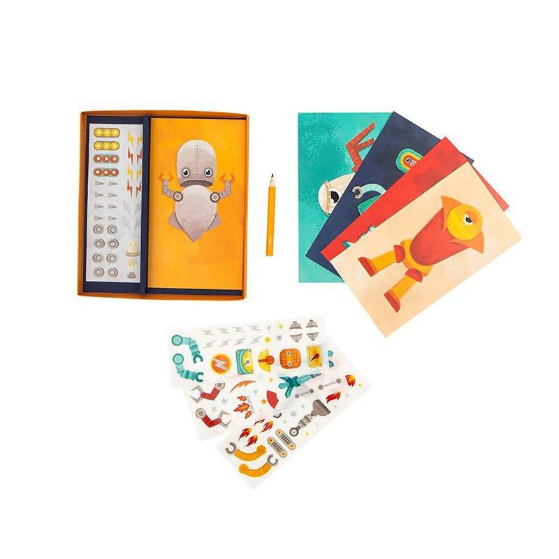 Tiger Tribe Transfer Magic - Create A Robot - Kids Activity Kits - The Children's Showcase - Naiise