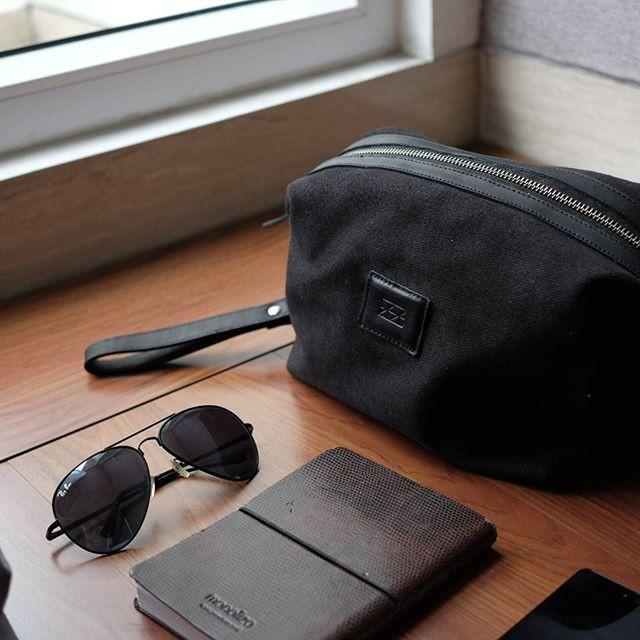 Traveling Dopp Kit Mens Pouches Welkin & Spine Black